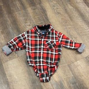 Andy & Evan Button Down Onesie - 9-12M